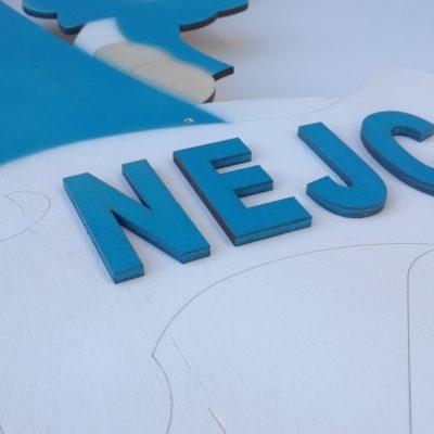 3D napis na štorklji poštarki